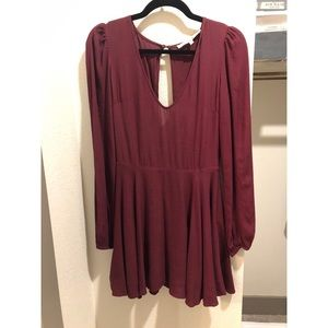 Maroon dress from Lovers and Friends